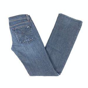 Womens Habitual Blue Jeans Size 27 Straight Boot
